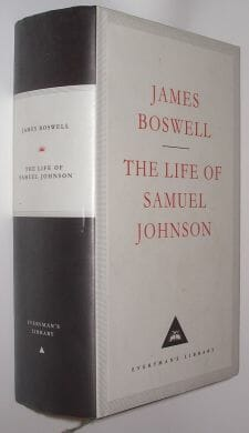 The Life Of Samuel Johnson James Boswell Everymans 1992
