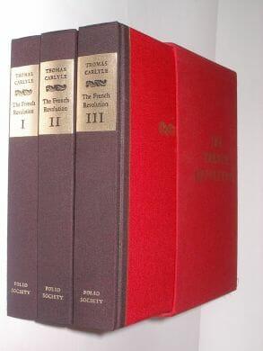 The French Revolution Thomas Carlyle Folio Society 1989