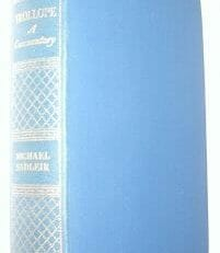 Trollope A Commentary Michael Sadleir Constable 1933