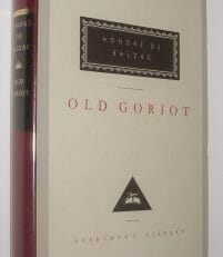 Old Goriot Honore De Balzac Everymans Library 1991