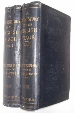 2 Volumes A New History Of The English Stage Fitzgerald Tinsley 1882