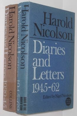 2 Volumes Diaries And Letters Harold Nicolson Collins c1967