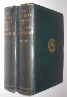 2 Volumes The Poetical Works Of Robert Browning Smith Elder 1910