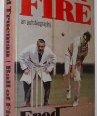 Ball Of Fire Fred Trueman Signed First Dent 1976