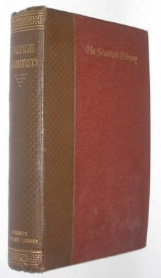 The Works of the British Dramatists Keltie Nimmo 1891