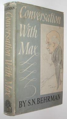 Conversation With Max Beerbohm Behrman Hamish Hamilton 1960