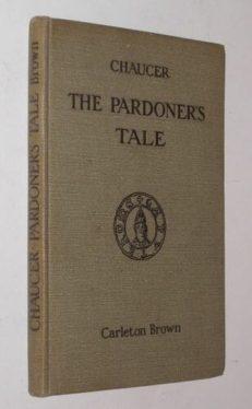 The Pardoners Tale Chaucer Clarendon 1938