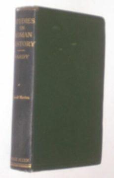 Studies In Roman History Hardy Sonnenschein 1909