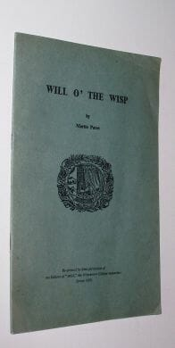 Will O' The Wisp Martin Pares Wykeham Press 1958
