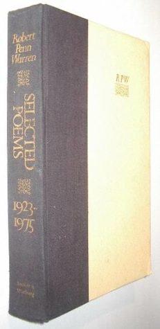 Selected Poems 1923-1975 Robert Penn Warren S&W 1976