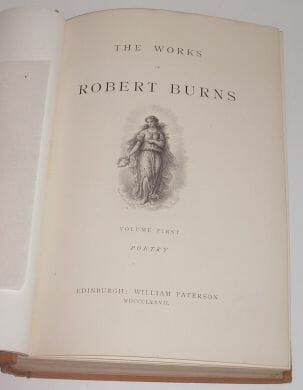 6 Volumes The Works Of Robert Burns Paterson 1877