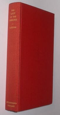 The Last Of The Barons Lord Lytton Dent 1933