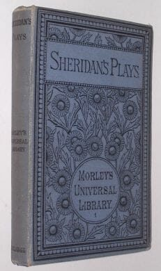 The Plays Of Richard Brinsley Sheridan Routledge 1885