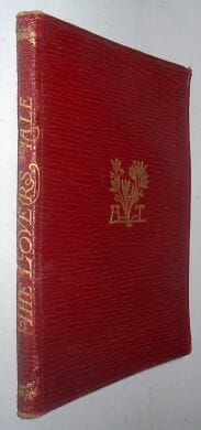 The Lover's Tale Alfred Lord Tennyson Macmillan 1896