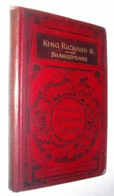 King Richard III Shakespeare Cassell Library 1889