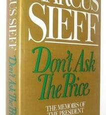 Don't Ask The Price Marcus Sieff Weidenfeld & Nicolson 1986