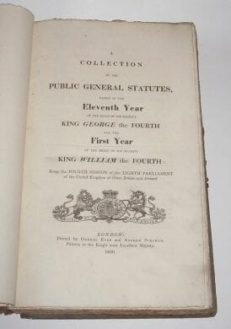 A Collection of Public General Statutes 1830
