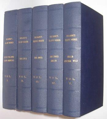 Select Works of Henry Fielding In Five Volumes Edinburgh 1812
