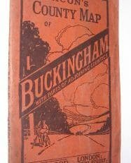 Bacon's County Map of Buckingham ca.1920