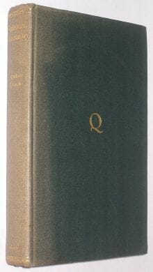Shakespeare's Workmanship Quiller-Couch Cambridge 1944