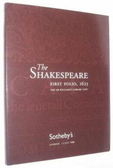 The Shakespeare First Folio Sotheby's Catalogue 2006