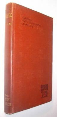 Othello Antony and Cleopatra Cymbeline Avon Edition 1886