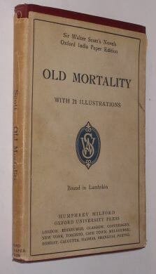 Old Mortality Walter Scott Oxford India Paper 1912