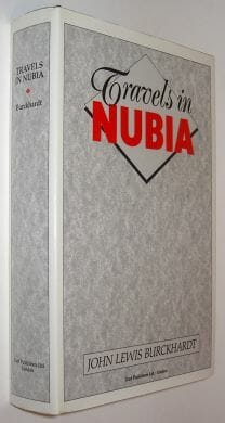 Travels In Nubia John Lewis Burckhardt Darf 1987