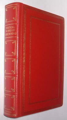 Poetical Works Of Browning Fine Oxford 1968