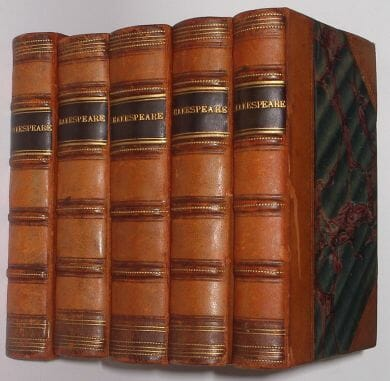 5 Volume Works of Shakespeare Tonson c.1735