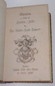 Marmion A Tale Of Flodden Field Scott 1839