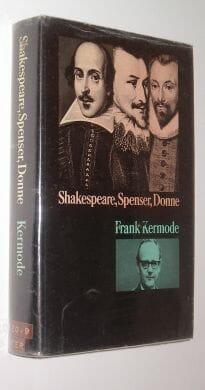 Shakespeare Spenser Donne Frank Kermode Routledge & Kegan Paul 1971