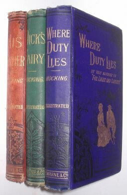 3 Volume Silas Hocking Collection c1887