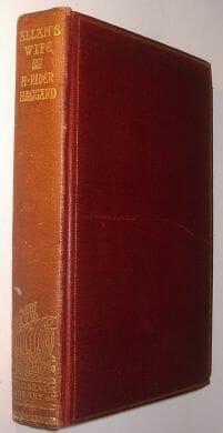 Allan's Wife H Rider Haggard Longmans Silver Library 1895