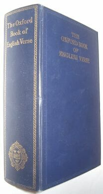 The Oxford Book Of English Verse 1250-1918 Oxford 1948
