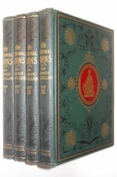 The National Burns ed. George Gilfillan 4 Volumes William Mackenzie ca1880