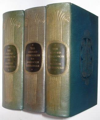 The Oxford Companion To English American & French Literature Oxford ca1969
