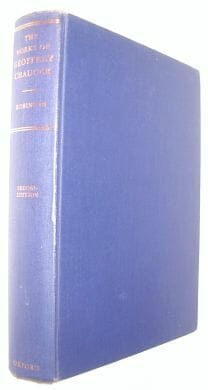 The Works Of Geoffrey Chaucer ed Robinson Oxford 1968