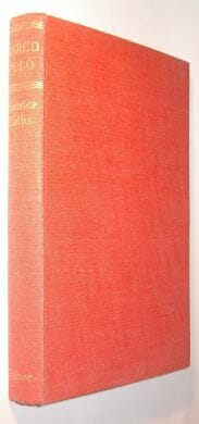 Marco Polo Maurice Collis Faber and Faber 1950
