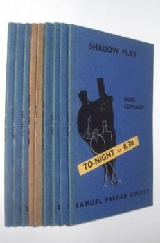 Noel Coward 9 Plays French's Acting Editions Samuel French 1938