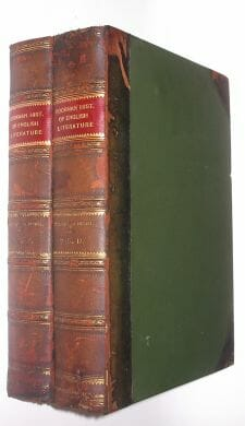 The Bookman Illustrated History of English Literature Hodder 1905