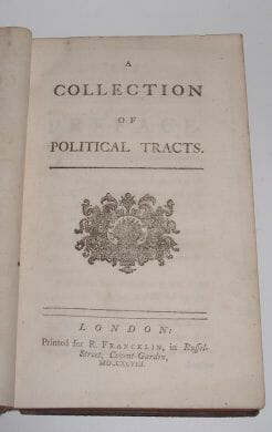 A Collection of Political Tracts Viscount Bolingbroke Francklin 1748