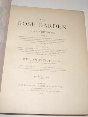 The Rose Garden In Two Divisions William Paul Simpkin Marshall 1903