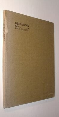 Dedications Poems by Denis Botterill Swan Press 1928
