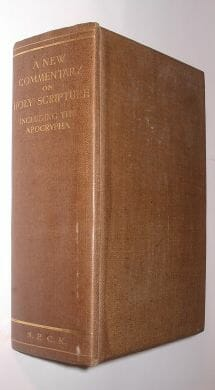A New Commentary on Holy Scripture S P C K 1929
