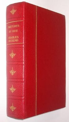 Sketches By Boz Charles Dickens Encyclopaedia Britannica c1920
