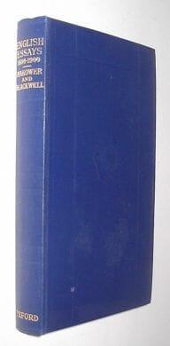 A Book Of English Essay 1600-1900 Makower Blackwell Oxford 1935
